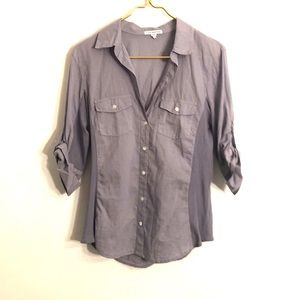[James Perse] Periwinkle Button Down Shirt - 4
